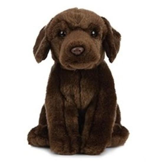 Pluche bruine Labrador hond knuffeldier 25 cm