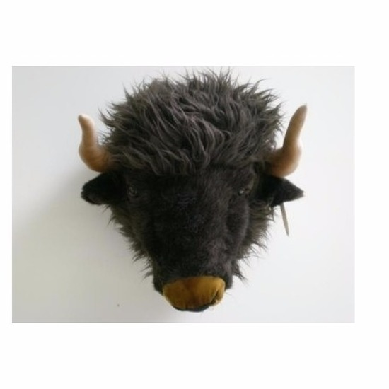 Pluche buffel hoofd