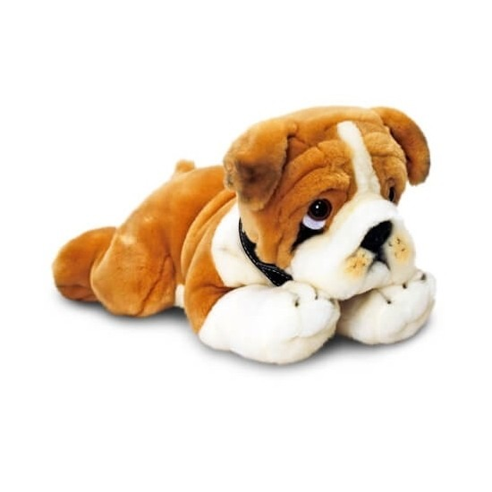Pluche bulldog 90 cm
