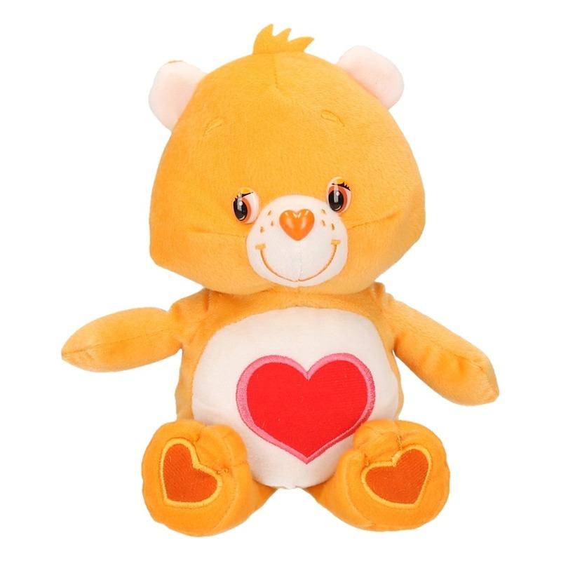Pluche care bear oranje 22 cm