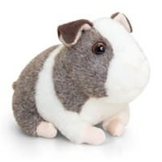 Pluche cavia knuffel grijs met wit 16 cm