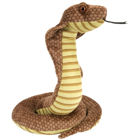 Pluche cobra slang 30 cm