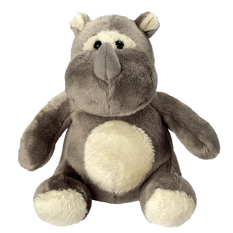 Afbeelding Pluche dierenknuffel neushoorn 12 cm door Animals Giftshop