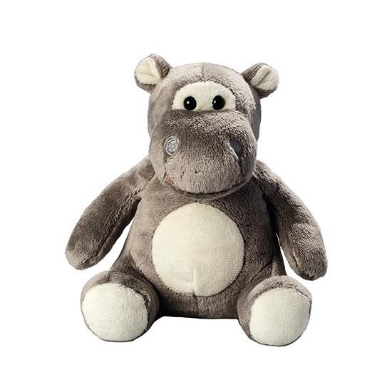 Pluche dierenknuffel nijlpaard 12.5 cm
