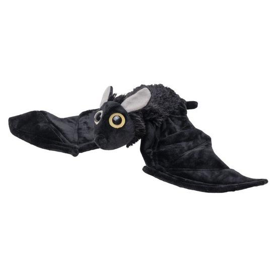 Pluche dierenknuffel vleermuis zwart 55 cm