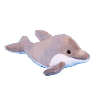 Pluche dolfijn grijs 31 cm