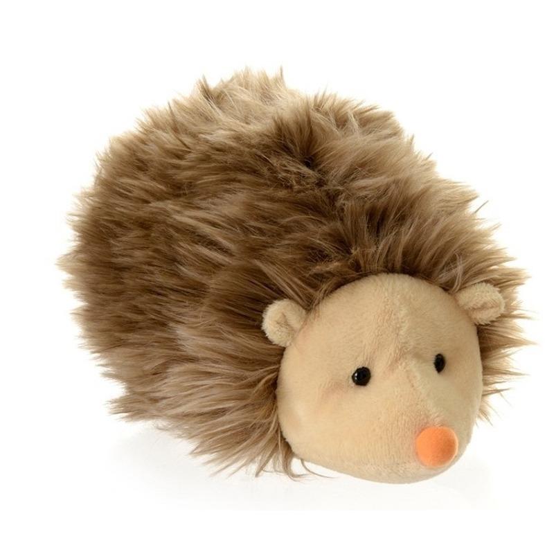 Pluche egel bruin knuffel 20 cm knuffeldieren