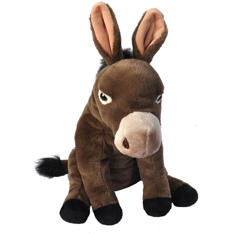 Pluche ezel dierenknuffel 30 cm