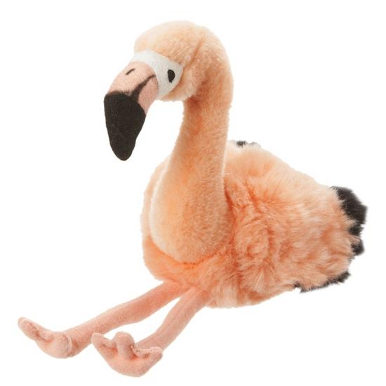 Pluche flamingo 18 cm