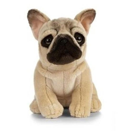 Pluche Franse Bulldog hond knuffeldier 25 cm