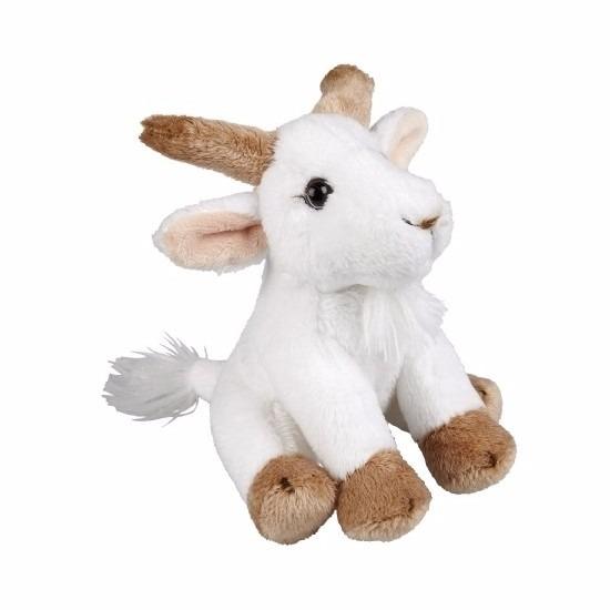 Pluche geiten knuffel zittend van 15cm