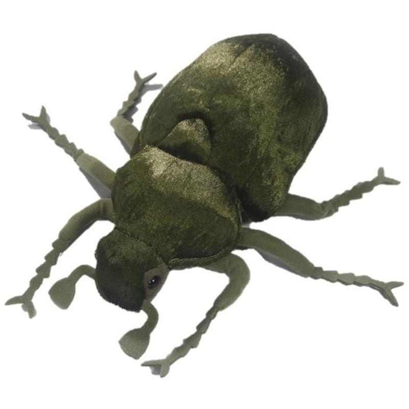 Pluche groene kevers knuffel 25 cm