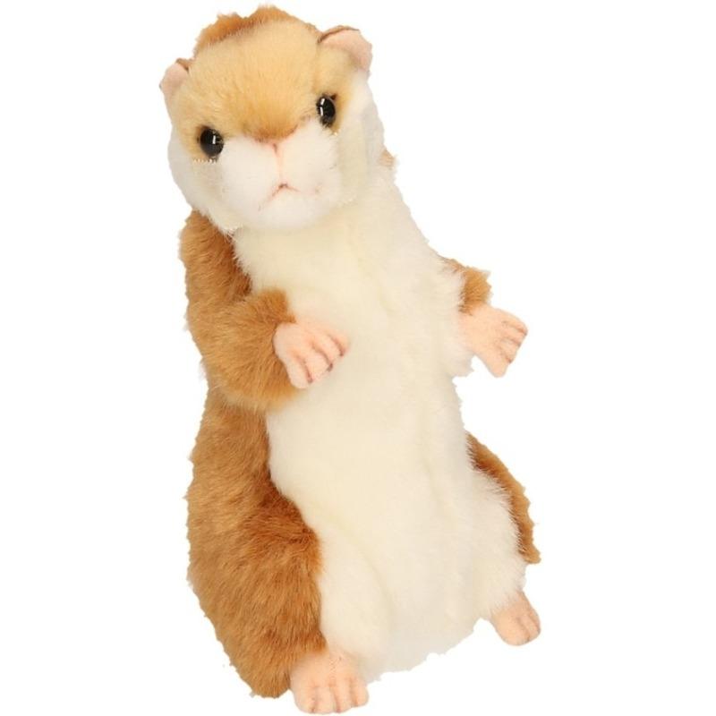 Pluche hamster knuffels 15 cm