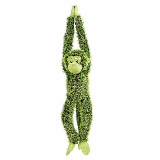 Pluche hangende groene aap knuffeldier 84 cm