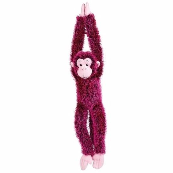 Pluche hangende roze aap knuffeldier 84 cm