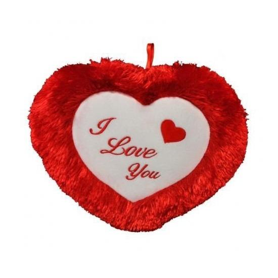 Pluche hartjes kussen I Love you 45 cm
