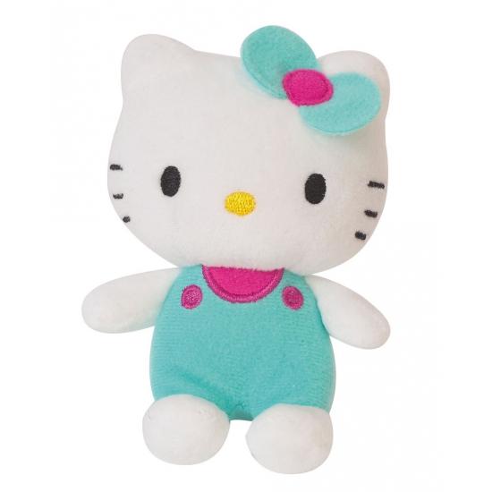 Pluche Hello Kitty met groene kleding