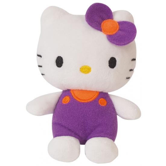 Pluche Hello Kitty met paarse kleding