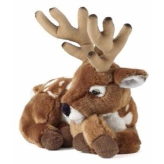 Pluche hert met gewei bruin knuffel 29 cm knuffeldieren