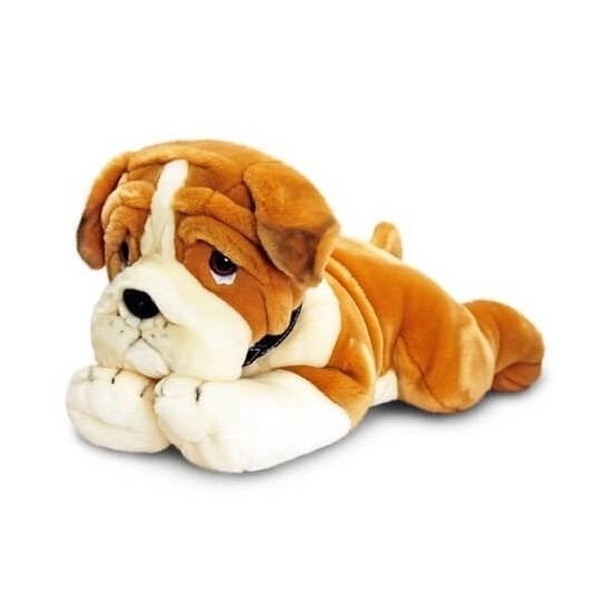 Pluche hond Bulldog puppie knuffeldier 50 cm