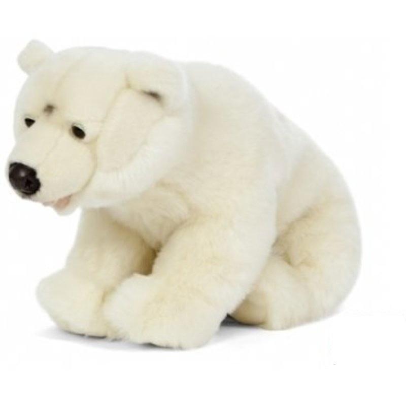 Pluche ijsbeer knuffel wit 61 cm knuffeldieren
