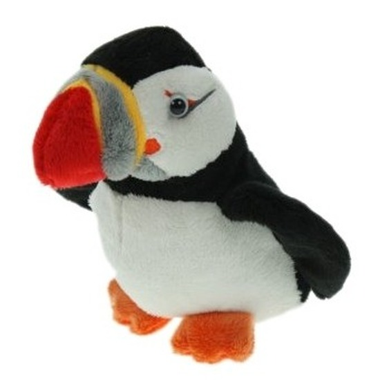 Pluche IJslandse papegaaiduikers/puffins vogel knuffels 15 cm