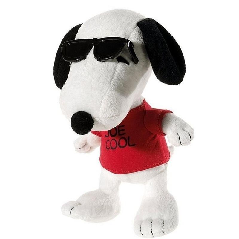 Pluche Joe Cool Snoopy knuffel 18 cm