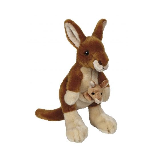 Pluche kangoeroe knuffel 22 cm