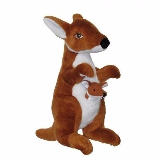 Pluche kangoeroe knuffeltje 28 cm