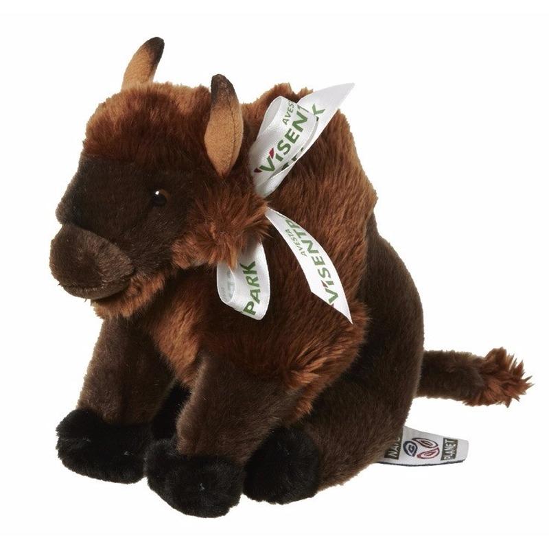 Pluche knuffel bizon 18 cm