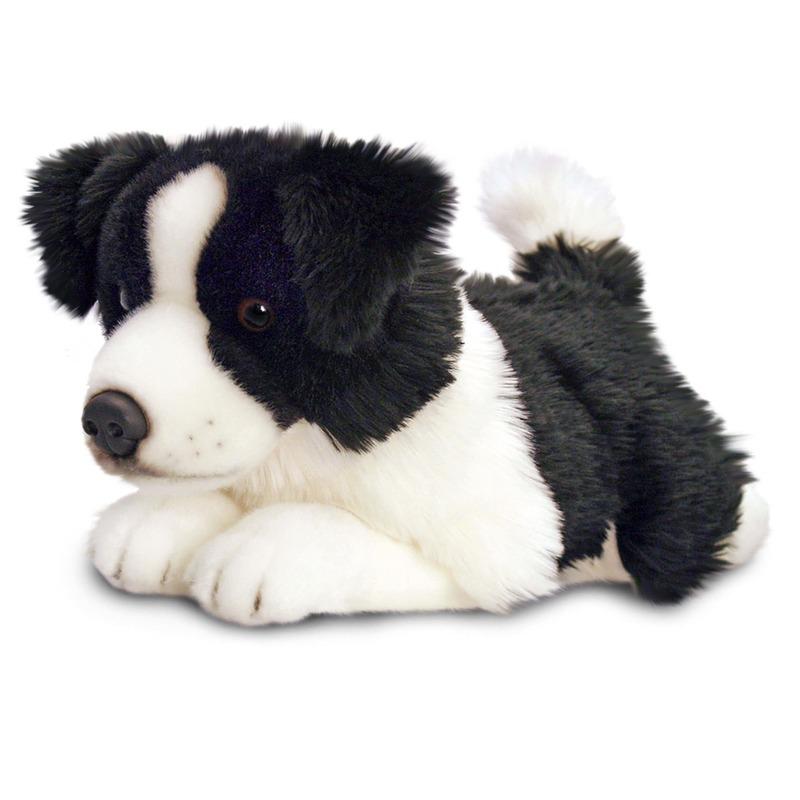 Pluche knuffel border collie pup 50 cm