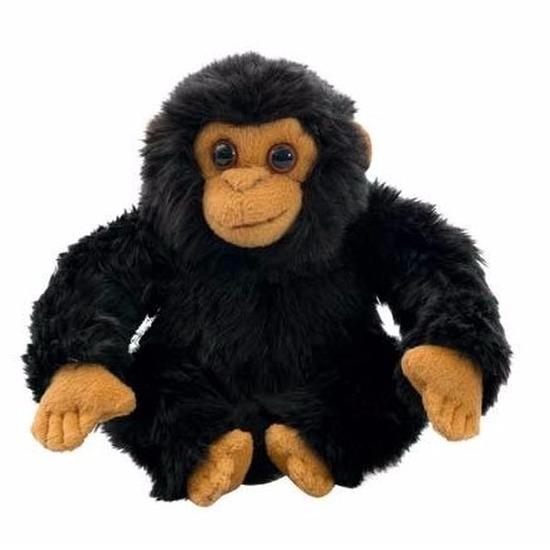 Pluche knuffel chimpansee 18 cm