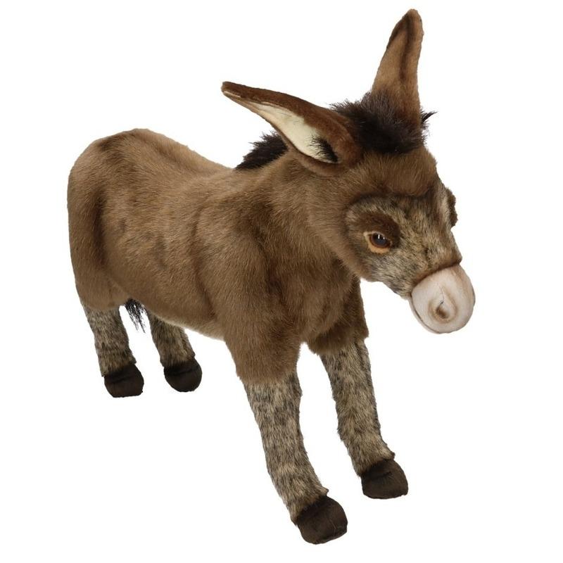 Pluche knuffel ezel 41 cm