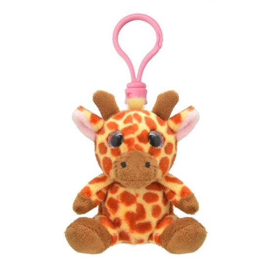 Pluche knuffel giraf sleutelhanger 9 cm