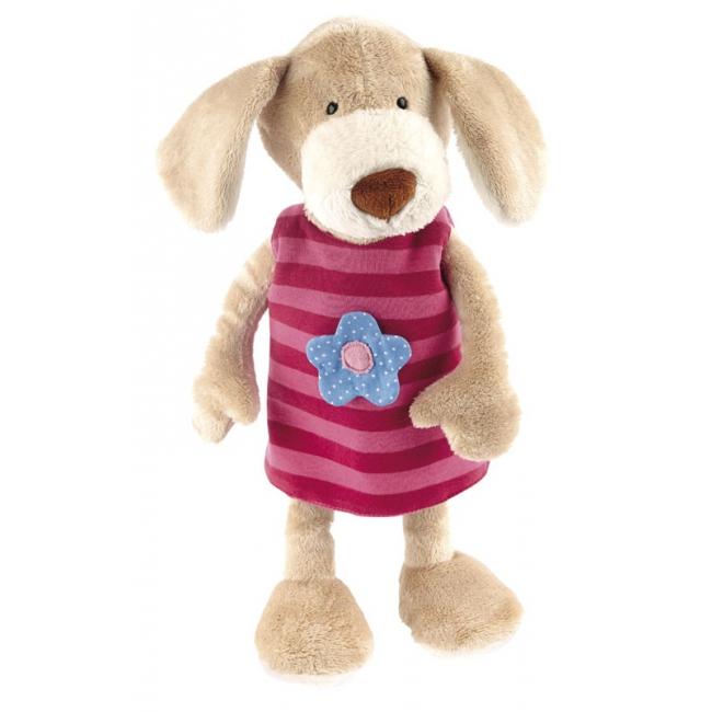 Pluche knuffel hond met verwisselbaar jurkje 40 cm