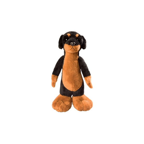 Pluche knuffel hond rottweiler 24cm