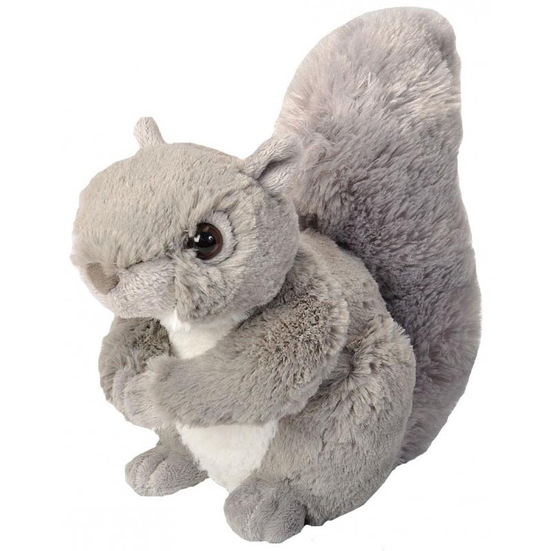 Pluche knuffel knuffeldier eekhoorn grijs 20 cm
