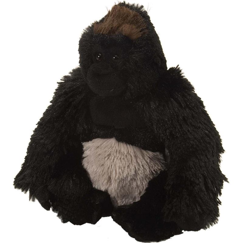 Pluche knuffel knuffeldier gorilla zwart 20 cm