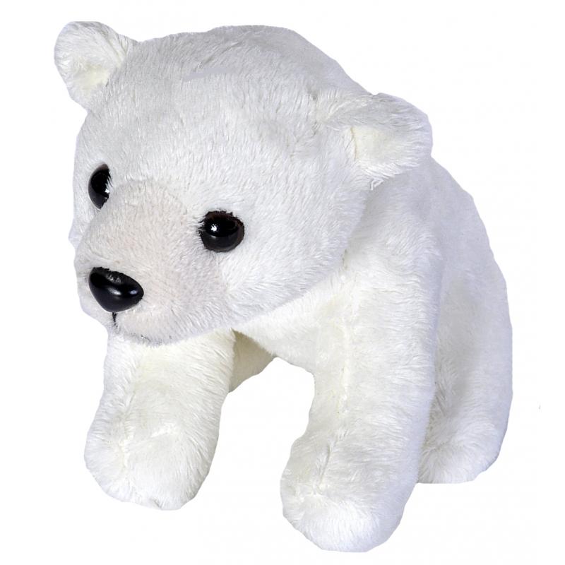 Pluche knuffel knuffeldier ijsbeer 15 cm