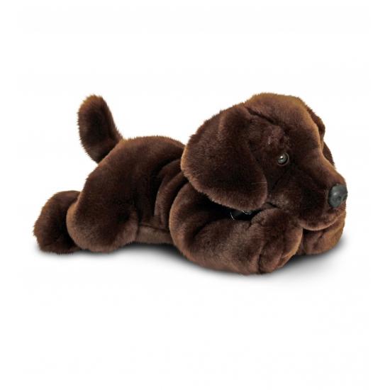 Pluche knuffel labrador bruin 30 cm