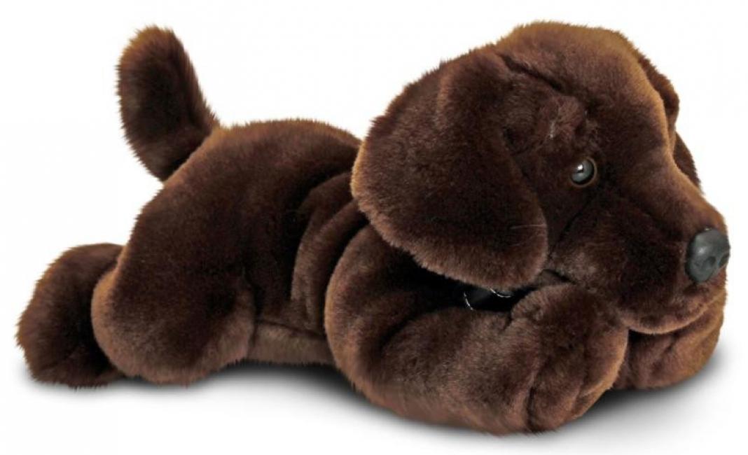 Pluche knuffel labrador bruin 35 cm