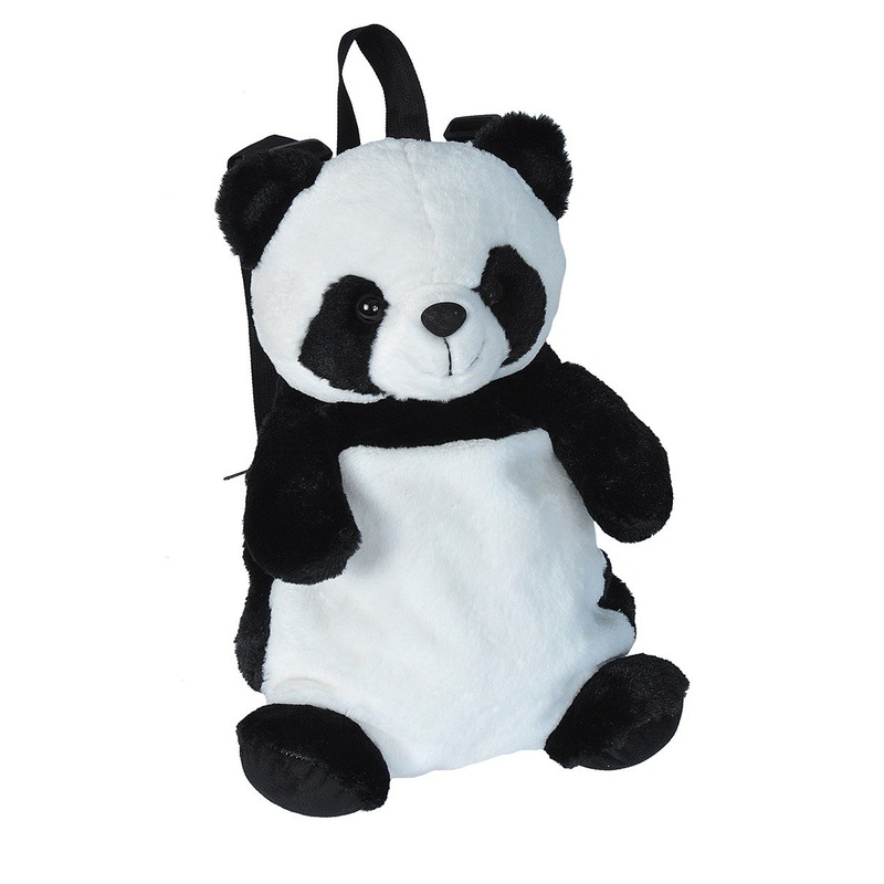Pluche knuffel panda kinder rugzak/rugtas 33 cm schooltas