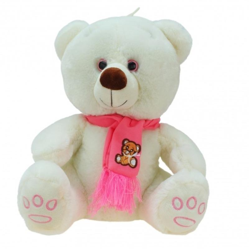 Pluche knuffelbeer knuffels creme 100 cm