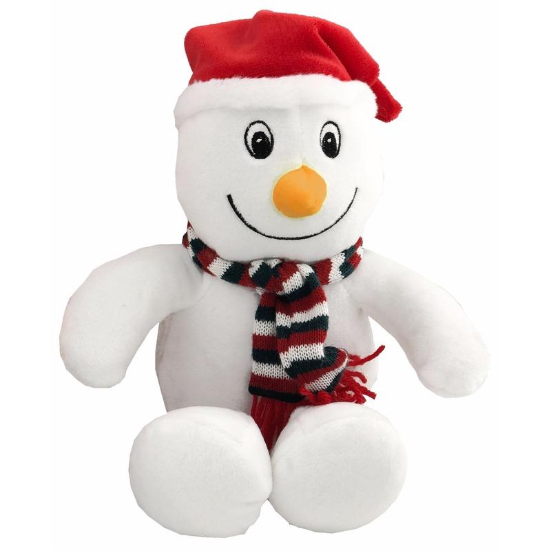 Pluche knuffeltje sneeuwpop 26 cm