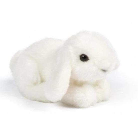 Pluche konijn wit knuffel 16 cm knuffeldieren
