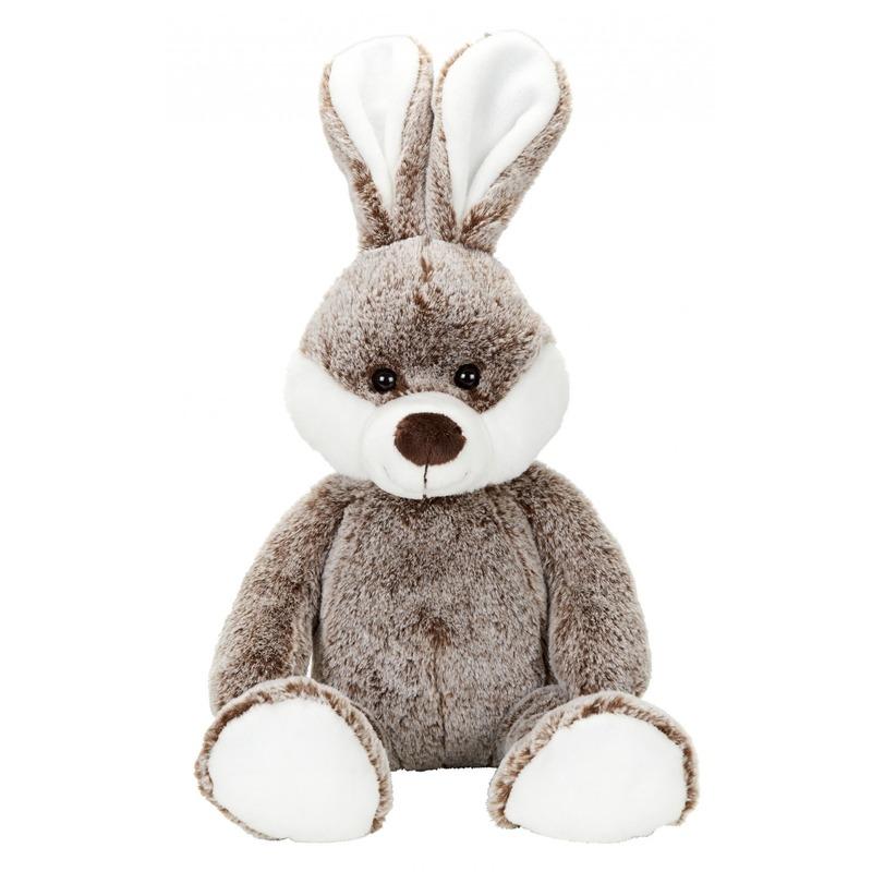 Pluche konijntje/haas bruin knuffel 22 cm knuffeldieren