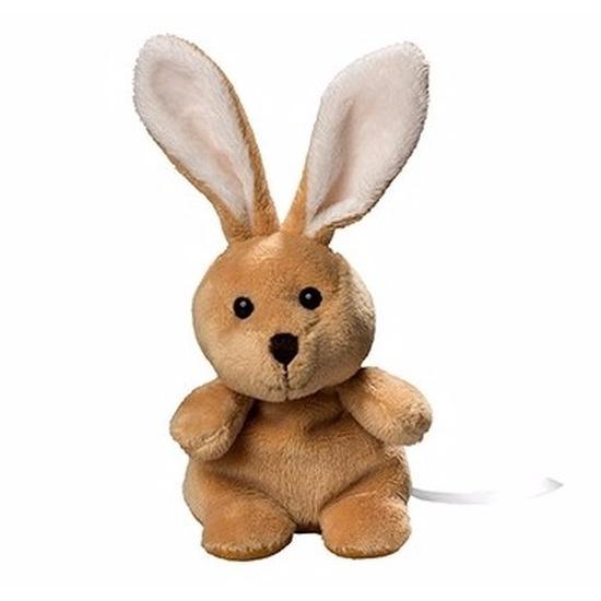 Afbeelding Pluche konijntje/haasje knuffeldier 19.5 cm door Animals Giftshop