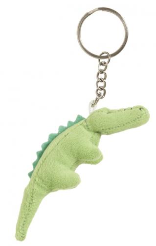 Pluche krokodilletjes sleutelhanger 6 cm