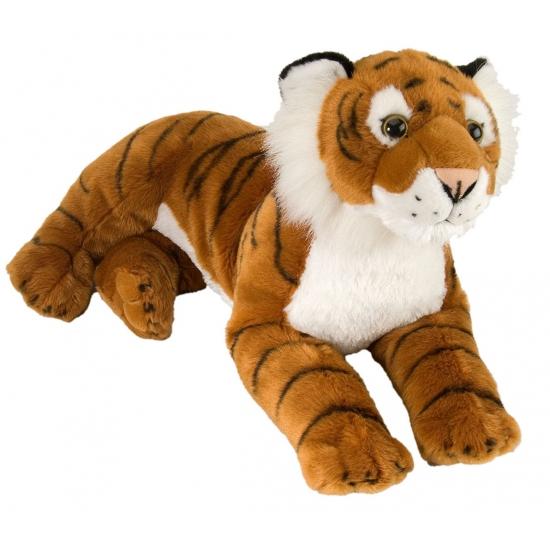 Pluche liggende tijgers 40 cm