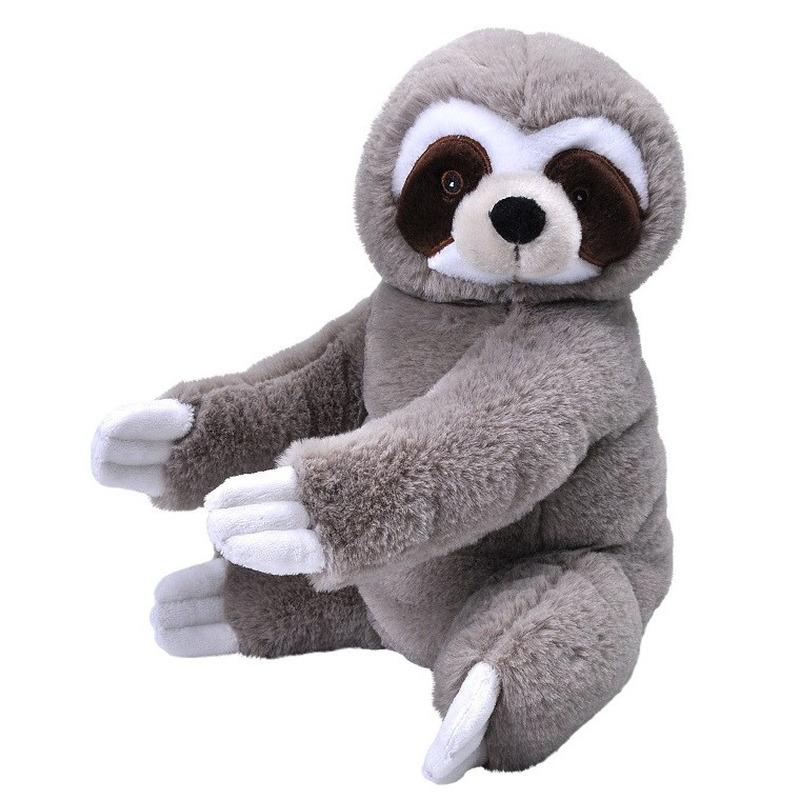 Pluche luiaard grijs knuffel 30 cm knuffeldieren